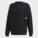 Adidas MUST HAVES WORD 男裝 長袖 T恤 寬鬆 東京街頭風圖案 棉質 黑【運動世界】GE0363