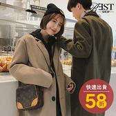 大衣 外套 韓系經典毛呢西裝領長版大衣外套【W06TJBF802】