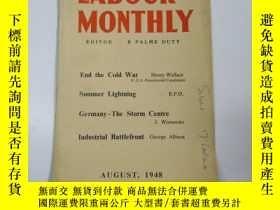 二手書博民逛書店民國外文原版罕見1948年 勞工月刊(labour monthl