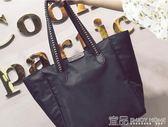 手提包大包包女新款個性時尚韓版大容量單肩包簡約女包手提包布包袋 99免運