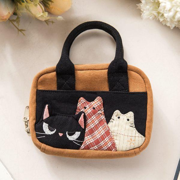 Kiro貓‧酷酷小黑貓零錢包/硬幣包/鑰匙收納包/小物包/可手提【222718】