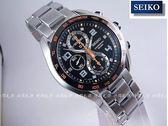 【時間光廊】SEIKO 精工錶 Criteria 三眼計時秒錶 藍寶石水晶鏡面 黑底 SNDD37P1