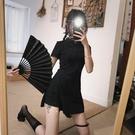旗袍 春夏裝2021新款女旗袍改良版連身裙氣質復古輕熟冷淡風短褲兩件套 美物