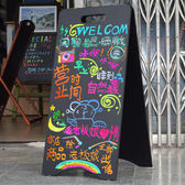 雙面 A字立式畫板 支架式小黑板 酒店用品店鋪戶外移動手寫廣告板