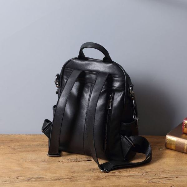 【Solomon 原創設計皮件】革工坊 純色牛皮後背包 附可拆式肩背帶