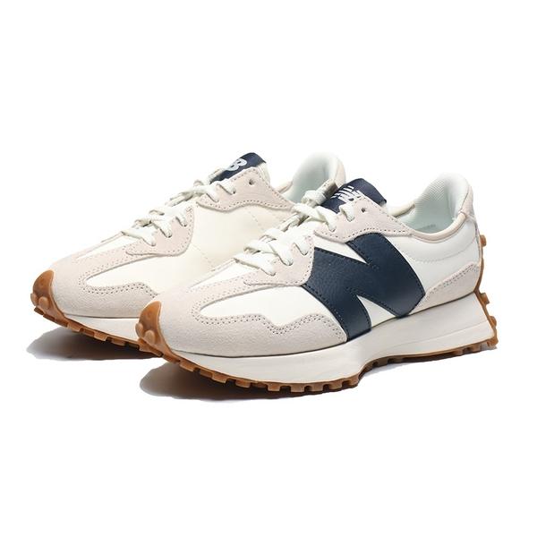 結帳輸入yahoo1212/折扣後3600元 NEW BALANCE 休閒鞋 NB327 復古米白 海軍藍 焦糖底 女 (布魯克林) WS327KB