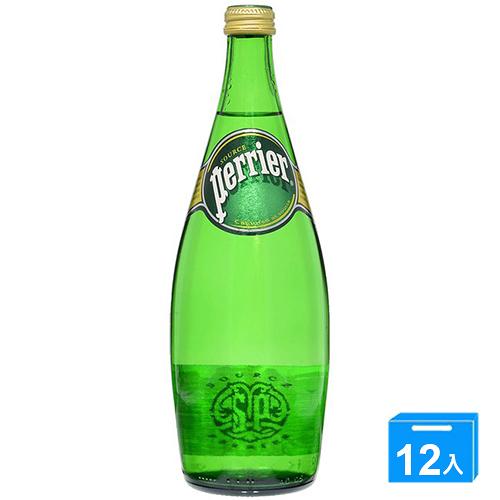 法國沛綠雅Perrier氣泡礦泉水750mlx12入/箱【愛買】