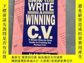 二手書博民逛書店HOW罕見TO WRITE A WINNING c.V. 英文吧 品好 書品如圖 避免爭議Y181138 AL