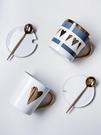 陶瓷馬克杯帶蓋帶勺情侶杯牛奶水杯早餐咖啡杯杯子