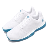 adidas 網球鞋 CourtJam Bounce 白 藍 輕量 基本款 運動鞋 男鞋【PUMP306】 CG6329