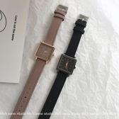 方形手錶三四集市店 手錶女學生韓風簡約chic方形復古ins氣質皮帶石英錶 玩趣3C