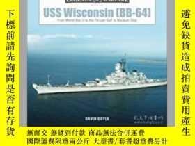 二手書博民逛書店USS罕見Wisconsin (BB-64) (slight damage)-美國威斯康星號(BB-64)(輕微損