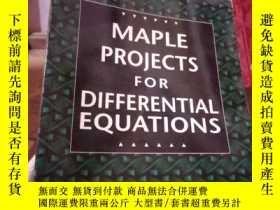 二手書博民逛書店Maple罕見Projects For Differential