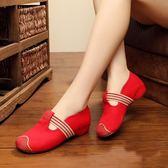 廣場舞鞋女士布鞋春夏季新款松緊帶跳舞蹈鞋  ys687『寶貝兒童裝』