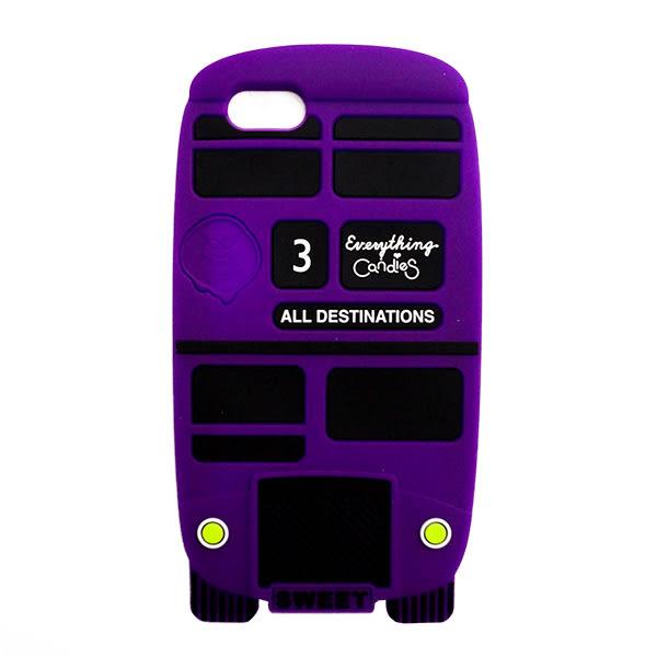 【Candies】London Bus(紫)-IPhone 5/5S/5C/SE