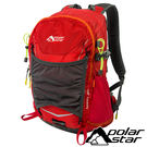 【PolarStar】透氣網架背包25L『紅』露營.戶外.旅遊.自助旅行.多隔間.登山背包.後背包 P17807