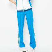 TOP GIRL-撞色剪接休閒長褲 -藍白