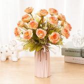 雙十二年終盛宴仿真花假塑料束藝擺件跳舞蘭裝花飾擺設花花客廳花仿真室內花家居 初見家居家