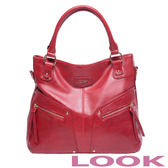 LOOK- Lucy 露西系列-率性肩背包- 熱情紅