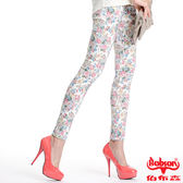 BOBSON女款印花強彈力緊身褲(8094-80)