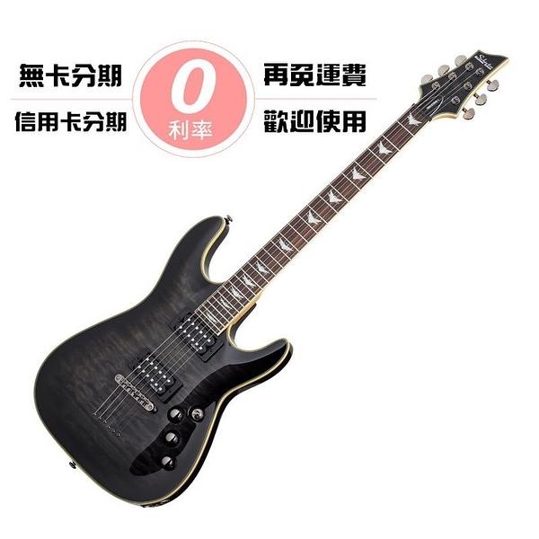☆唐尼樂器︵☆分期免運 Schecter Omen Extreme-6 STBK 透明黑 雲紋 無搖座 電吉他