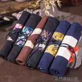 好康618 中國風布藝帆布筆簾卷筆袋
