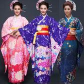 日式新款淑女氣質日本櫻花和服正裝時尚演出服浴衣民族睡衣cos【新品上市】