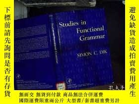 二手書博民逛書店studies罕見in functional grammar 功
