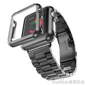 Apple Watch鍍金保護殼iwatch邊框殼蘋果手錶殼apple watch外殼套 美芭