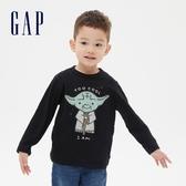 Gap男幼童 Gap x Star Wars星際大戰系列圓領長袖T恤 619059-黑色