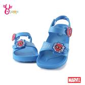 蜘蛛人兒童涼鞋 男童涼鞋 防水涼鞋 休閒涼鞋 MARVEL MIT台灣製 J6534#藍色◆OSOME奧森鞋業