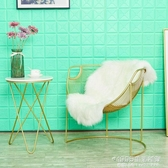 北歐鐵藝沙發椅 ins臥室懶人椅子現代簡約網紅躺椅創意單人靠背椅 1995生活雜貨NMS