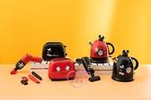 小花花日本精品迪士尼米奇黑色紅色立體公仔壺蓋造型溫度顯示器快煮壺廚房家電~8