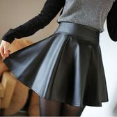 韓版高腰pu皮裙包臀半身裙百褶裙a字蓬蓬裙打底短裙子大碼女 黛尼时尚精品