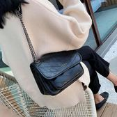 鍊條包秋冬質感休閒包包女韓版時尚洋氣百搭鍊條側背斜背流浪包 美物居家