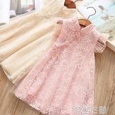 洋裝 女童連身裙公主裙兒童洋氣裙子夏季女寶寶小女孩童裝 怦然心動