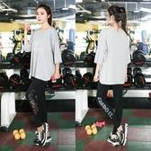 大尺碼運動套裝胖妹妹跑步女裝胖mm健身瑜伽服裝微胖兩件套「尚美潮流閣」