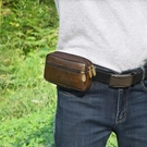 男士手機包穿皮帶腰包中老年人手機套橫款腰帶包多功能干活工地包 店慶降價