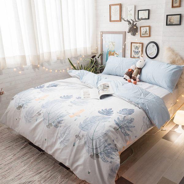 白兔狐狸 二次見面 A3枕套乙個 100%復古純棉 台灣製造 棉床本舖