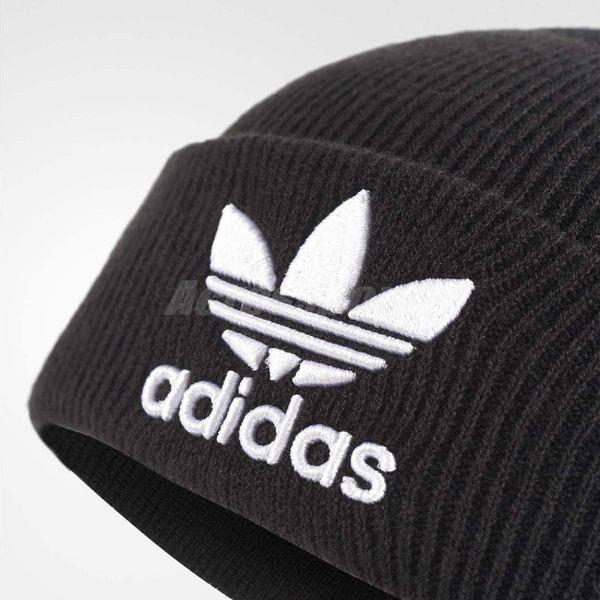 ... adidas 毛帽Trefoil Beanie 黑白三葉草Logo 秋冬必備男女款 PUMP306  BK7634 ... 1db3c8ee7e94