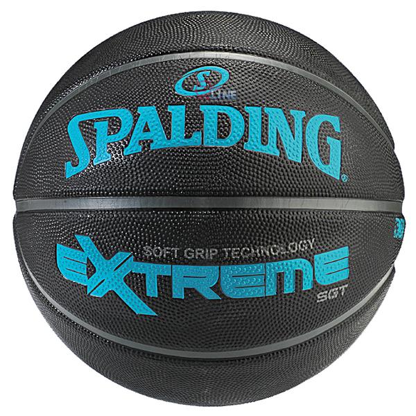 【SPALDING】斯伯丁 NBA籃球 SGT 深溝柔軟膠籃球 室外 比賽 7號-SPA83306 極致黑 [陽光樂活]