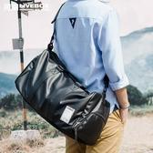 健身包 旅行包男出差手提包大容量旅游行李運動健身包商務單肩斜挎袋背包wy 快速出貨