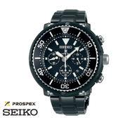 SEIKO PROSPEX 太陽能鮪魚罐三眼全黑限量黑鋼潛水錶 46mm SBDL035J V175-0DV0SD 公司貨