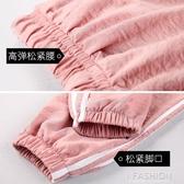 大碼女褲子胖mm寬鬆夏季休閒束腳運動ins潮燈籠學生九分薄款200斤-Ifashion