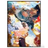 玄關裝飾畫抽象大尺寸別墅客廳背景牆掛畫巨幅酒店會所走廊壁畫 QM 依凡卡時尚