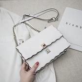 法國小眾洋氣包包女包2021新款潮韓版百搭單肩斜背包夏天小方包女 Korea時尚記