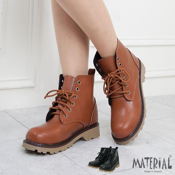 短靴 個性6孔綁帶短靴 MA女鞋 T1094