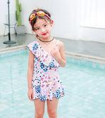 儿童泳衣女孩宝宝连体游泳衣中大童公主可爱女童韩国裙式小孩泳装 小巨蛋之家