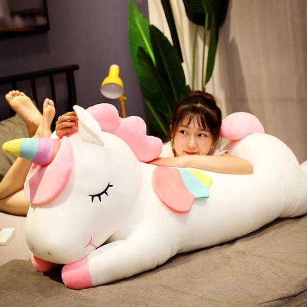獨角獸公仔毛絨玩具布娃娃大號玩偶女生禮物超軟睡覺抱枕可愛床上 「青木鋪子」