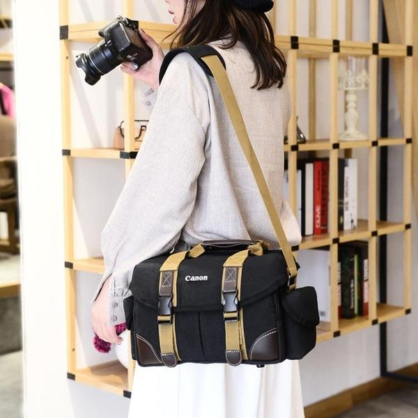相機包佳能單反帆布攝影包d7200d750d7100d810d3200dd3400新年禮物